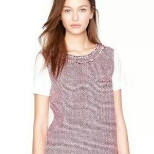 J. Crew Silk Tweed Short Sleeve Pink T-Shirt